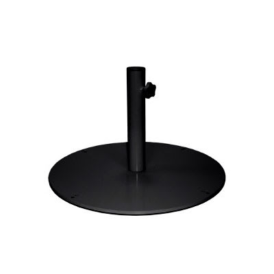 "emu 923 24"" Round Shade Umbrella Base - 55 lb, Steel, Black"