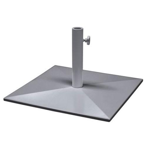 "emu 927 24"" Square Shade Umbrella Base - 65-lb, Steel, Glossy Aluminum"