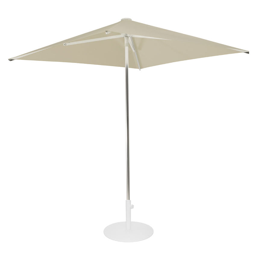 emu 980 6 1/2' Square-Top Shade Umbrella - Aluminum, Khaki