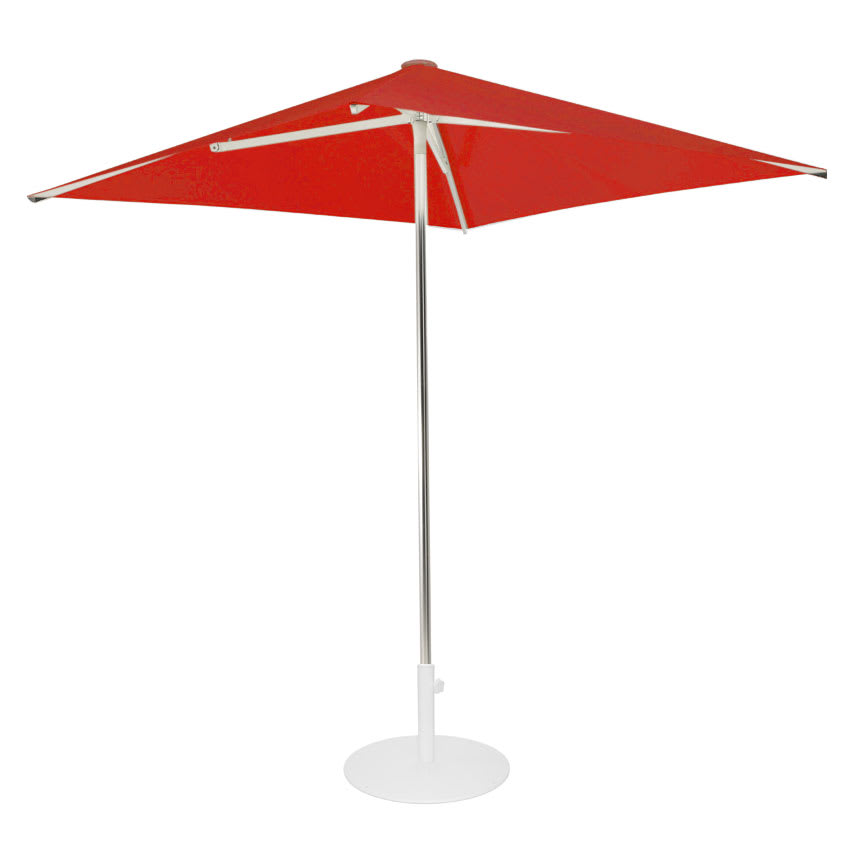 emu 980 6-1/2' Square-Top Shade Umbrella - Aluminum, Circus Red