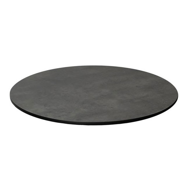 "emu GA0024 24"" Round ALF Indoor/Outdoor Table Top - Solid Melamine Resin, Dark Concrete"