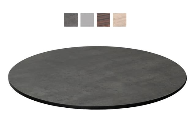 "emu GA0024 24"" ALF Round Table Top - Indoor/Outdoor, Melamine Resin, Madagascar Rosewood"
