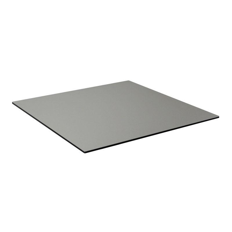 "emu GA2424 24"" ALF Square Table Top - Indoor/Outdoor, Melamine Resin, Metal Brushed"
