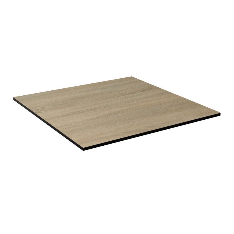 "emu GA2424 24"" ALF Square Table Top - Indoor/Outdoor, Melamine Resin, Vintage Oak"