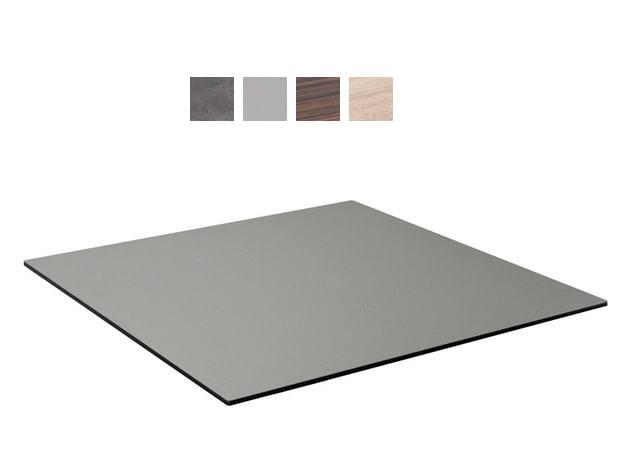 "emu GA2424 24"" ALF Square Table Top - Indoor/Outdoor, Melamine Resin, Madagascar Rosewood"