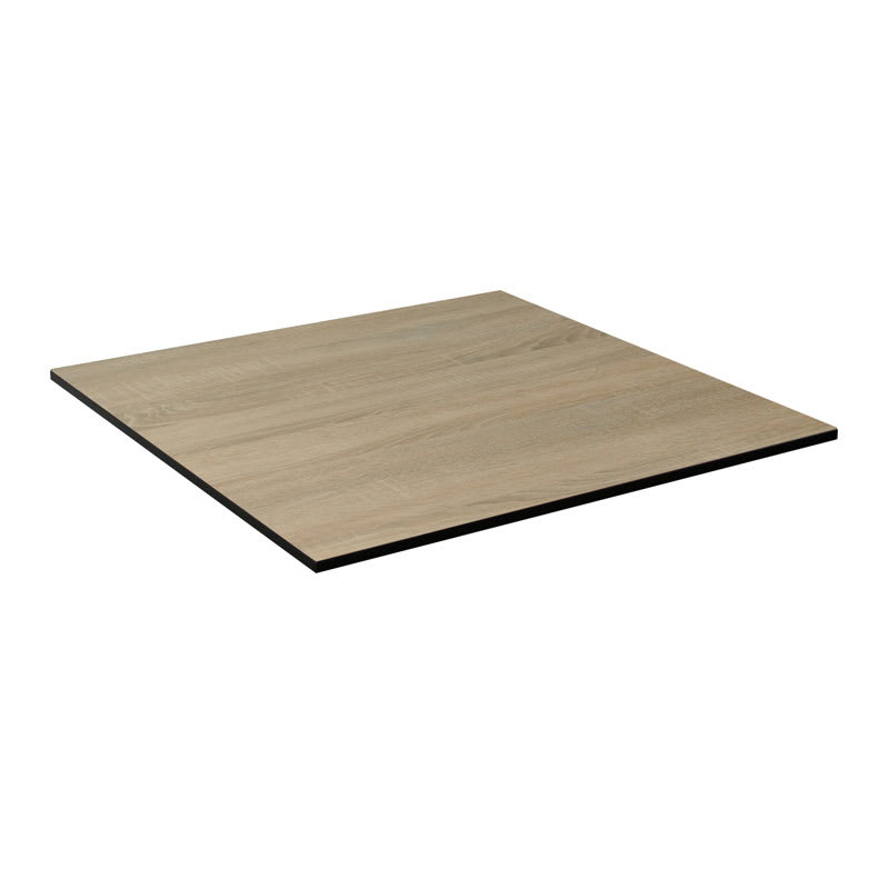 "emu GA3232 32"" ALF Square Table Top - Indoor/Outdoor, Melamine Resin, Vintage Oak"