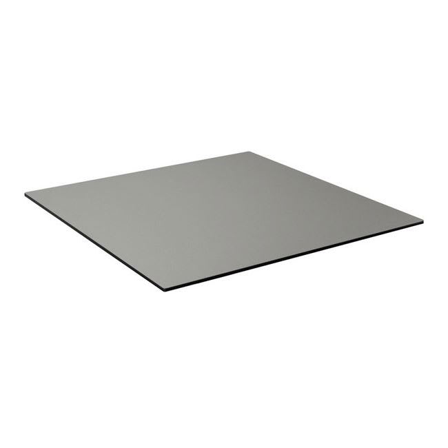"emu GA3636 36"" Square ALF Indoor/Outdoor Table Top - Solid Melamine Resin, Brushed Metal"