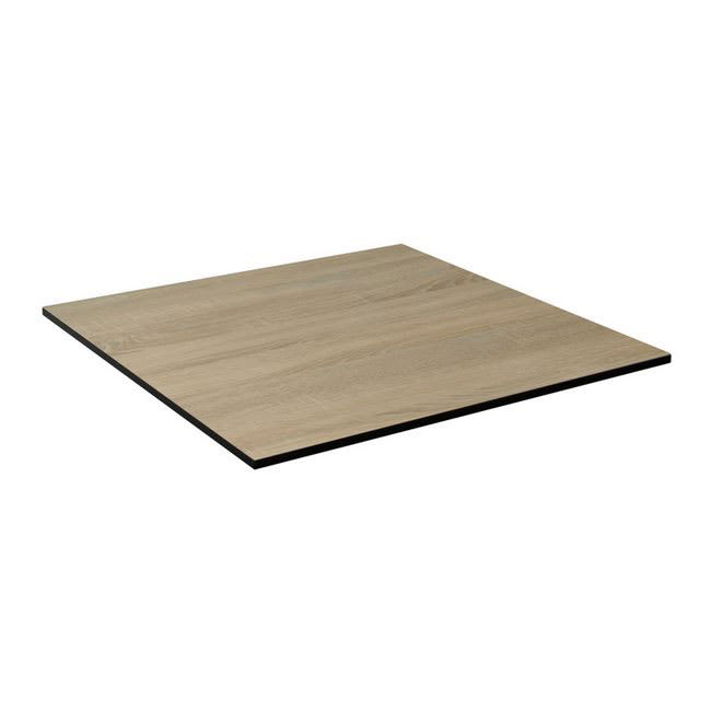 "emu GA3636 36"" Square ALF Indoor/Outdoor Table Top - Solid Melamine Resin, Vintage Oak"