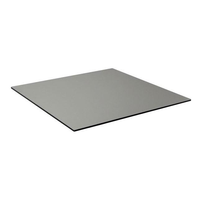 "emu GA4832 48"" x 32"" Rectangular ALF Indoor/Outdoor Table Top - Solid Melamine Resin, Brushed Metal"