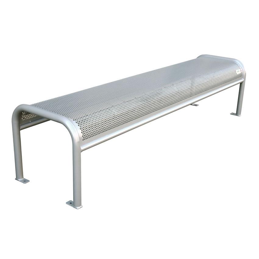Phenomenal Emu U340B 81 Outdoor Backless Bench W Perforated Mesh Seat Back Tubular Frame Silver Lamtechconsult Wood Chair Design Ideas Lamtechconsultcom