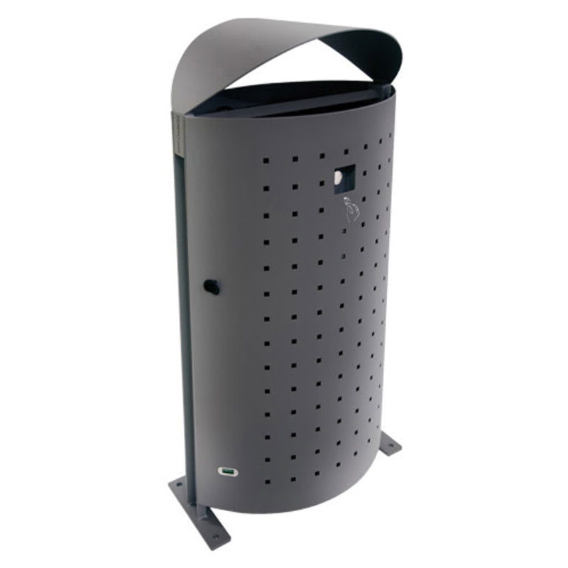 emu U694L 51 gal Dara Litter Bin - Outdoor, Steel, Gray
