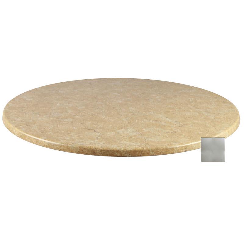 "emu W0024 107 Joe Table Top, 24"" Diameter, Brushed Silver Laminate"