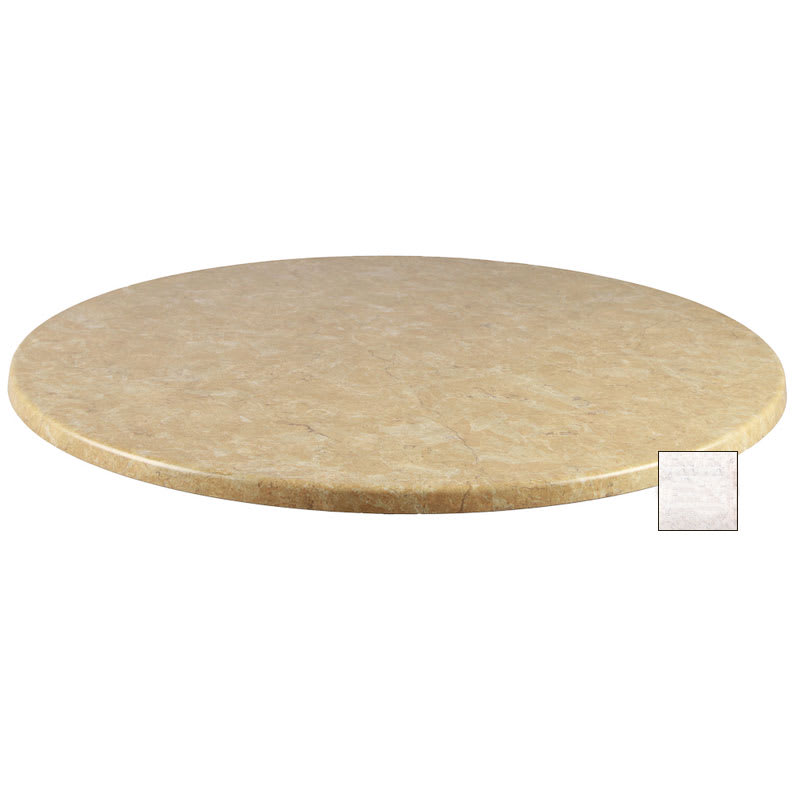 "emu W0028 28"" Joe Round Table Top - Indoor/Outdoor, Molded Laminate, Stone"