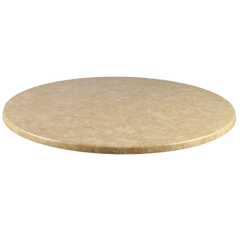 "emu W0028 28"" Joe Round Table Top - Indoor/Outdoor, Molded Laminate, Travertine"
