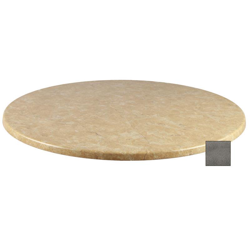 "emu W0036 36"" Joe Round Table Top - Indoor/Outdoor, Molded Laminate, Black Granite"