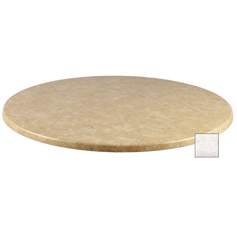 "emu W0036 36"" Joe Round Table Top - Indoor/Outdoor, Molded Laminate, Stone"