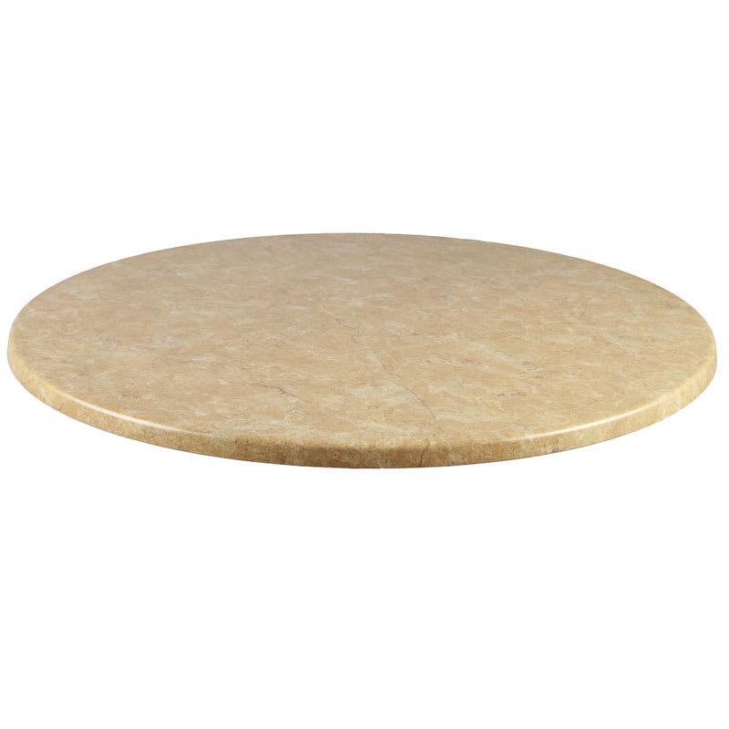 "emu W0042 42"" Joe Round Table Top - Indoor/Outdoor, Molded Laminate, Travertine"