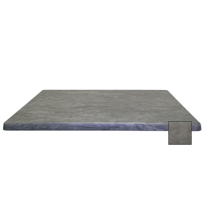 "emu W2424 24"" Joe Square Table Top - Indoor/Outdoor, Molded Laminate, Black Granite"