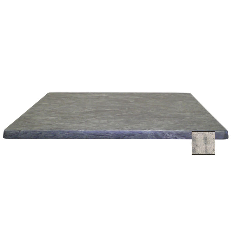 "emu W2424 24"" Joe Square Table Top - Indoor/Outdoor, Molded Laminate, Nevada"