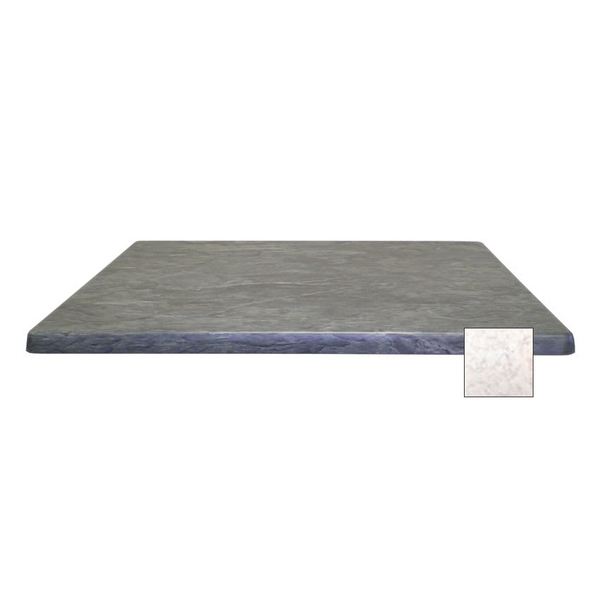 "emu W2424 24"" Joe Square Table Top - Indoor/Outdoor, Molded Laminate, Stone"