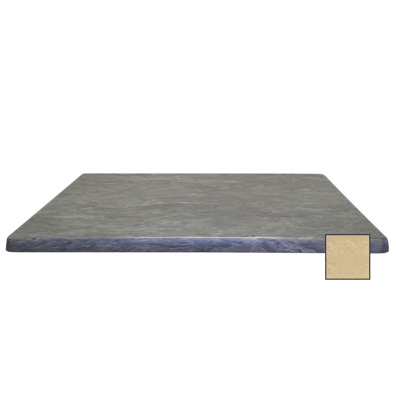 "emu W2424 24"" Joe Square Table Top - Indoor/Outdoor, Molded Laminate, Travertine"