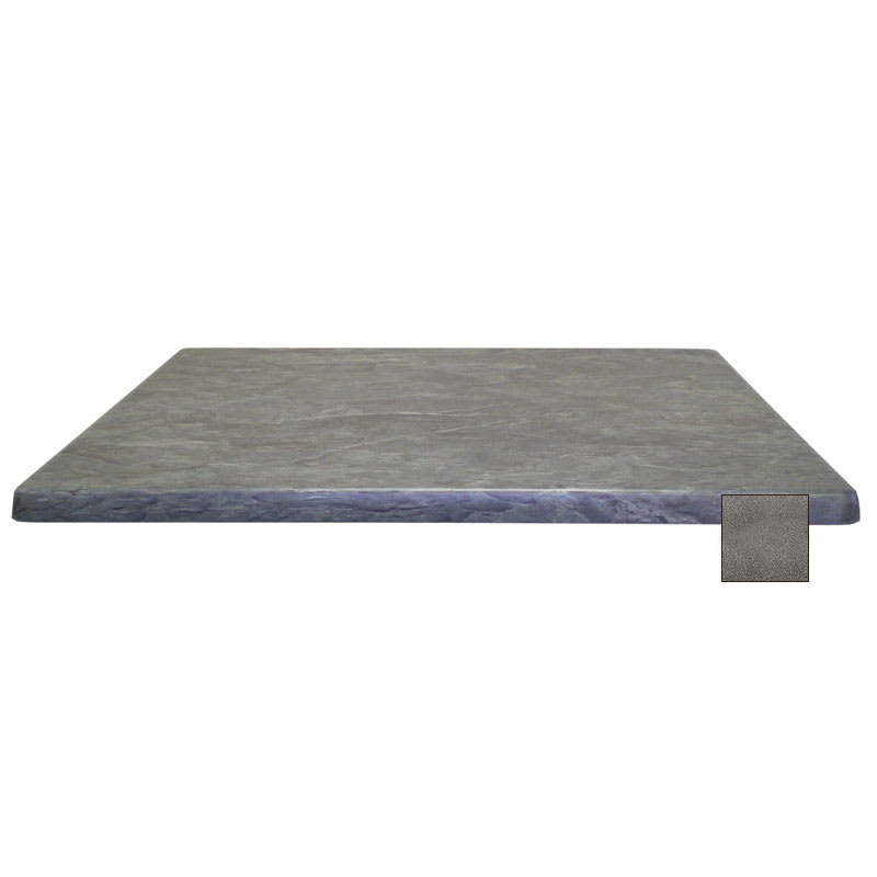 "emu W2828 28"" Joe Square Table Top - Indoor/Outdoor, Molded Laminate, Black Granite"