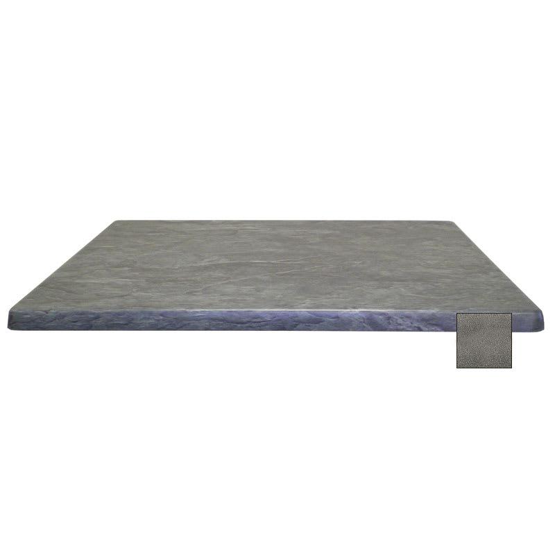 "emu W3232 32"" Joe Square Table Top - Indoor/Outdoor, Molded Laminate, Black Granite"