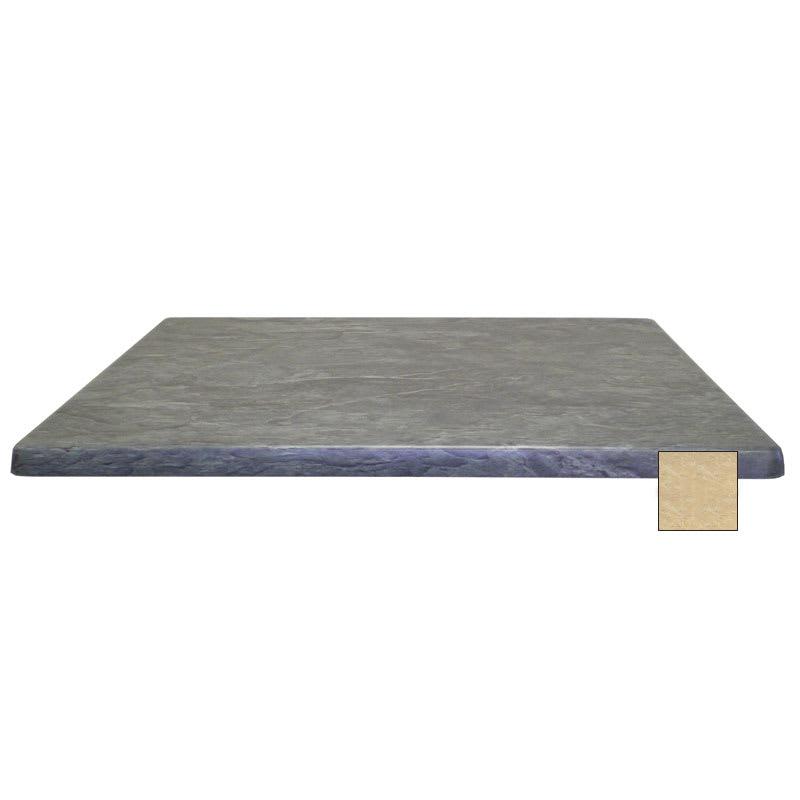 "emu W3232 32"" Joe Square Table Top - Indoor/Outdoor, Molded Laminate, Travertine"