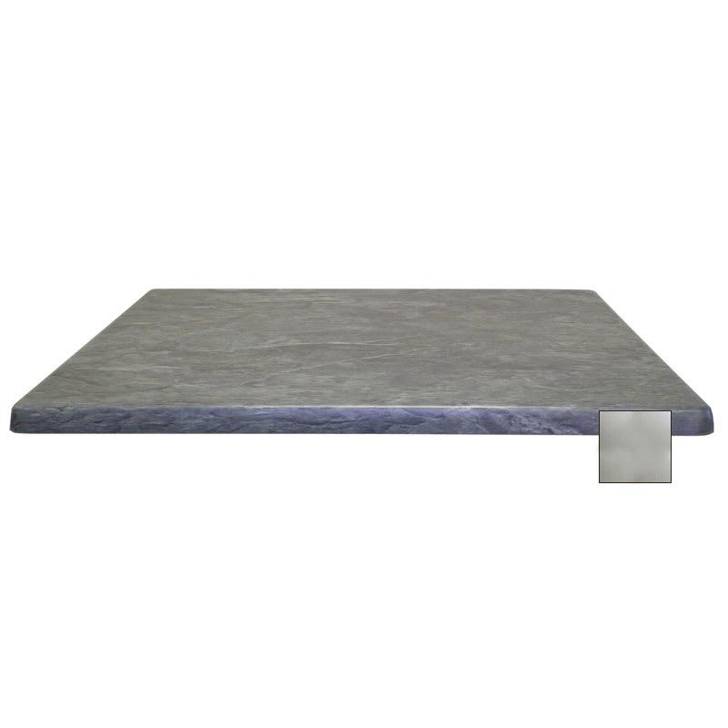 "emu W3248 Joe Rectangular Table Top - Indoor/Outdoor, 48x32"" Molded Laminate, Brushed Silver"