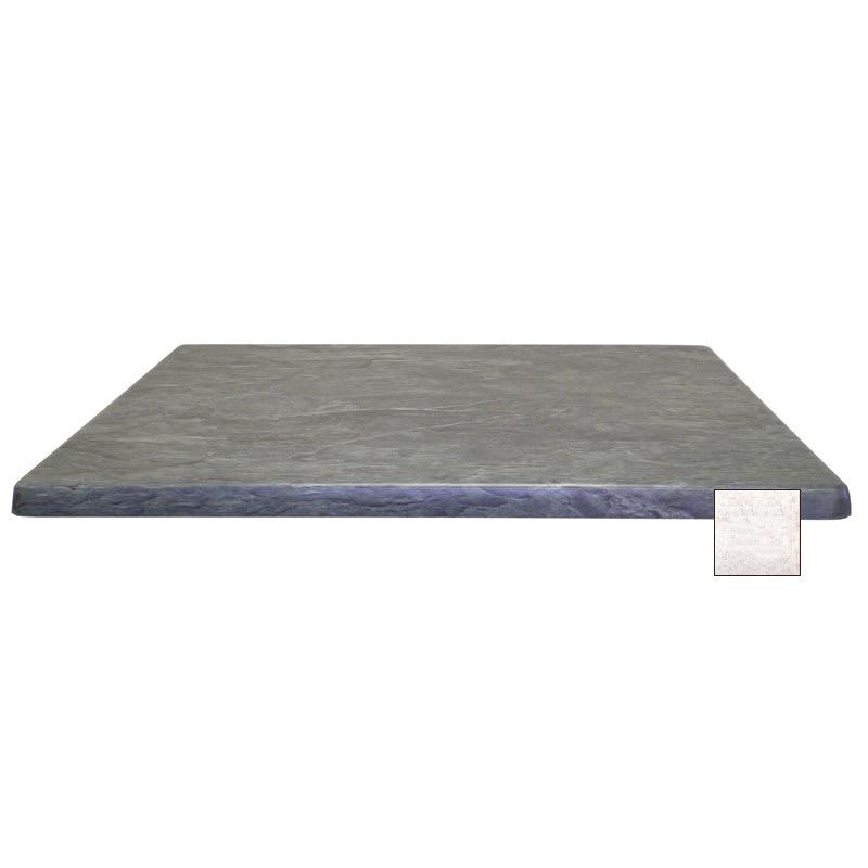 "emu W3636 36"" Joe Square Table Top - Indoor/Outdoor, Molded Laminate, Stone"