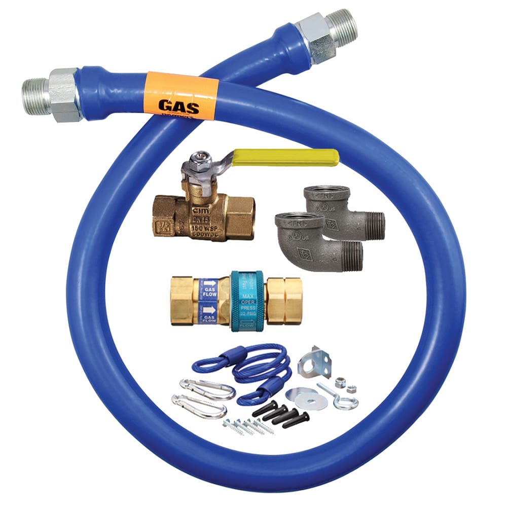 "Dormont 16100KIT48 48"" Gas Connector Kit w/ 1"" Male/Male Couplings"