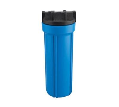 """Dormont HSR-10HS 10"""" Blue Filter Housing w/ Lid, 125-F & 125-PSI, Polypropylene"""