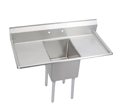 "Elkay 14-1C16X20-2-18X 52"" 1-Compartment Sink w/ 16""L x 20""W Bowl, 14"" Deep"