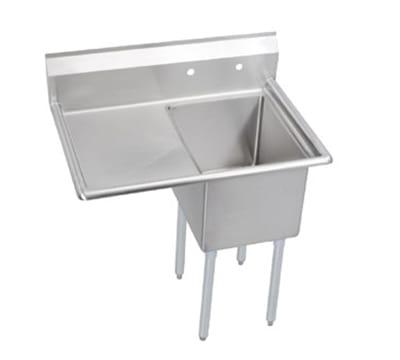 """Elkay 14-1C18X24-L-18X 38.5"""" 1 Compartment Sink w/ 18""""L x 24""""W Bowl, 14"""" Deep"""