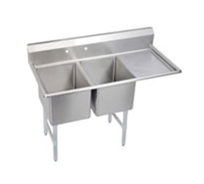 """Elkay 14-2C24X24-R-24X 76.5"""" 2-Compartment Sink w/ 24""""L x 24""""W Bowl, 14"""" Deep"""