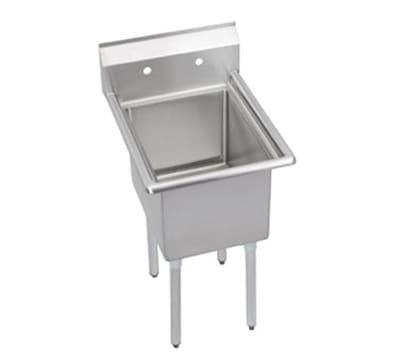 """Elkay 1C18X24-0X 23"""" 1-Compartment Sink w/ 18""""L x 24""""W Bowl, 12"""" Deep"""