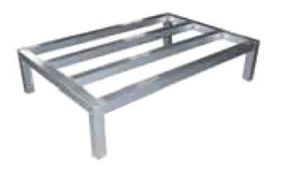"Elkay ADR482412-MX 48"" Stationary Dunnage Rack w/ 1500-lb Capacity, Aluminum"