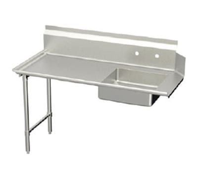 "Elkay DDT-48-LX L-R Straight Soiled Dishtable w/ 10"" Splash, 30x48"""