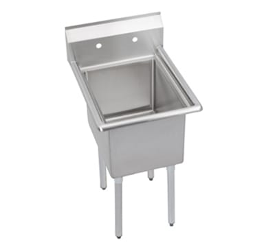 "Elkay E1C16X20-0X 21"" 1-Compartment Sink w/ 16""L x 20""W, 12"" Deep"