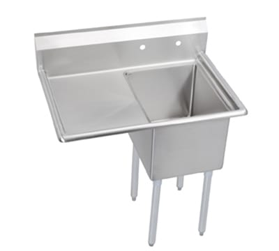 "Elkay E1C24X24-L-24X 50.5"" 1 Compartment Sink w/ 24""L x 24""W Bowl, 12"" Deep"