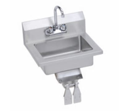 "Elkay EHS-18-KVX Wall Mount Commercial Hand Sink w/ 14""L x 10""W x 5""D Bowl, Knee Valve"
