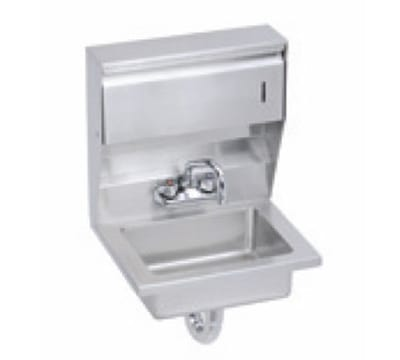 "Elkay EHS-18-TDX Wall Mount Commercial Hand Sink w/ 14""L x 10""W x 5""D Bowl, Basket Drain"