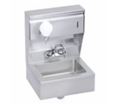 "Elkay EHS-18-TSX Wall Mount Commercial Hand Sink w/ 14""L x 10""W x 5""D Bowl, Basket Drain"