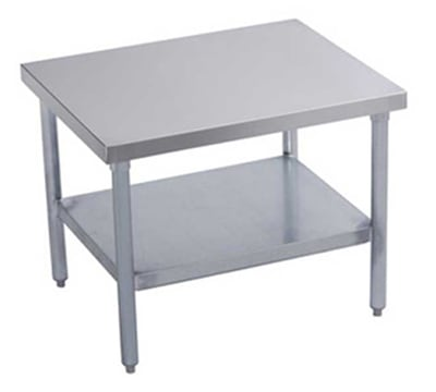 "Elkay MS24S24-STGX 24"" Mixer Table w/ Galvanized Undershelf Base & Marine Edge, 24""D"