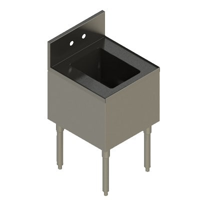 "Elkay UB-HS18X19X 1-Compartment Underbar Hand Sink - 18"" x 19"" x 10"" Bowl, Stainless Steel"