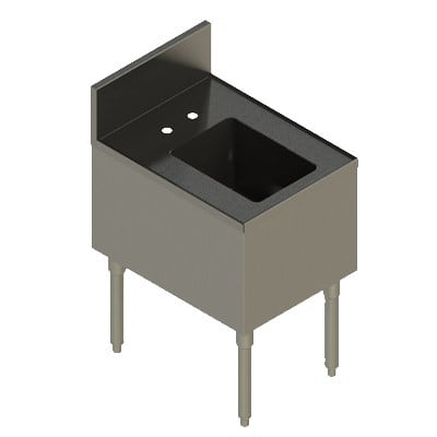 "Elkay UB-HS18X24X 1-Compartment Underbar Hand Sink - 18"" x 24"" x 10"" Bowl, Stainless Steel"