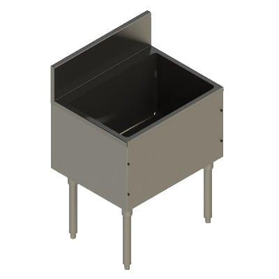 "Elkay UB-IB24X19X Freestanding Underbar Ice Bin - 24"" x 19"" x 13"", Stainless Steel"
