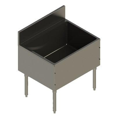 "Elkay UB-IB30X24X Freestanding Underbar Ice Bin - 30"" x 24"" x 13"", Stainless Steel"