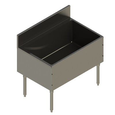 "Elkay UB-IB36X24X Freestanding Underbar Ice Bin - 36"" x 24"" x 13"", Stainless Steel"