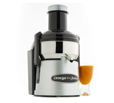 Omega BMJ330 Mega Mouth Pulp Ejection Juicer, Surgical Stainless Bowl, Silver
